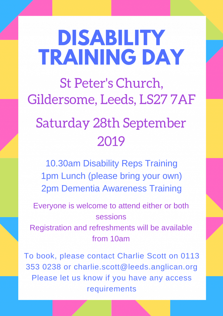 Disability Training Day – Diocese of Leeds Learning